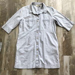 J.Jill Linen Shirt Dress